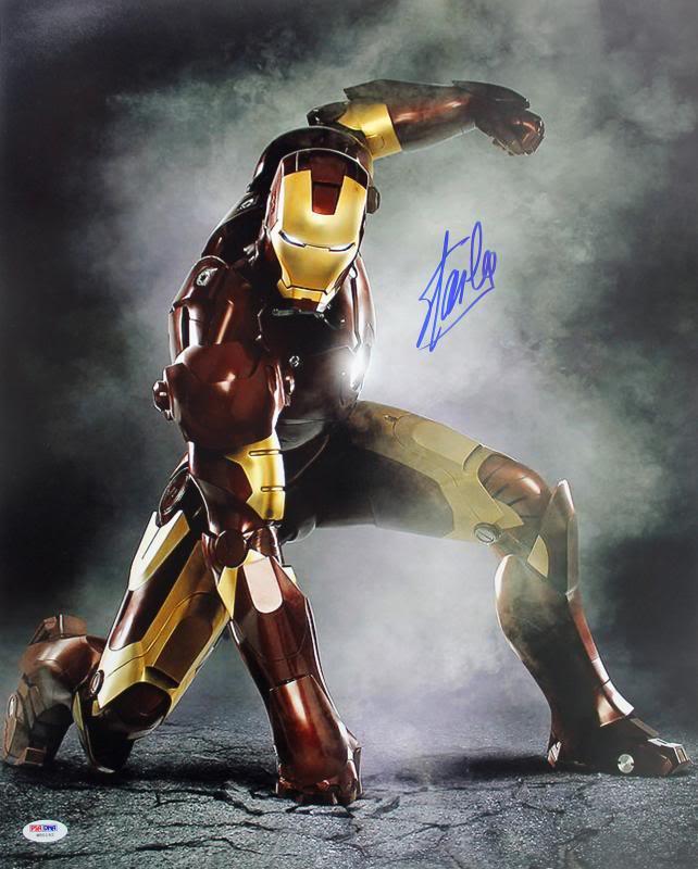 Stan Lee Authentic Signed Iron Man 16X20 Photo Marvel Comics PSA/DNA 5