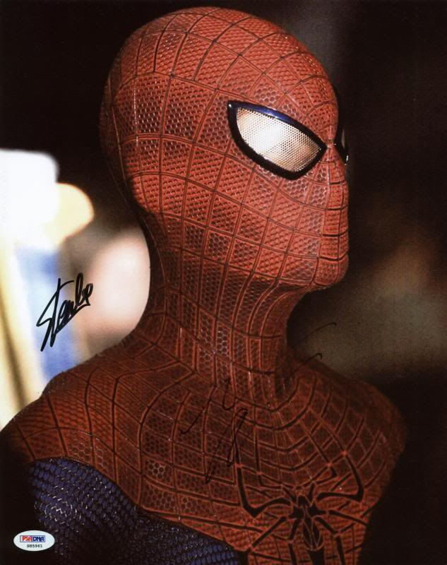 Stan Lee & Andrew Garfield Spider-Man Signed Authentic 11X14 Photo PSA #S85961