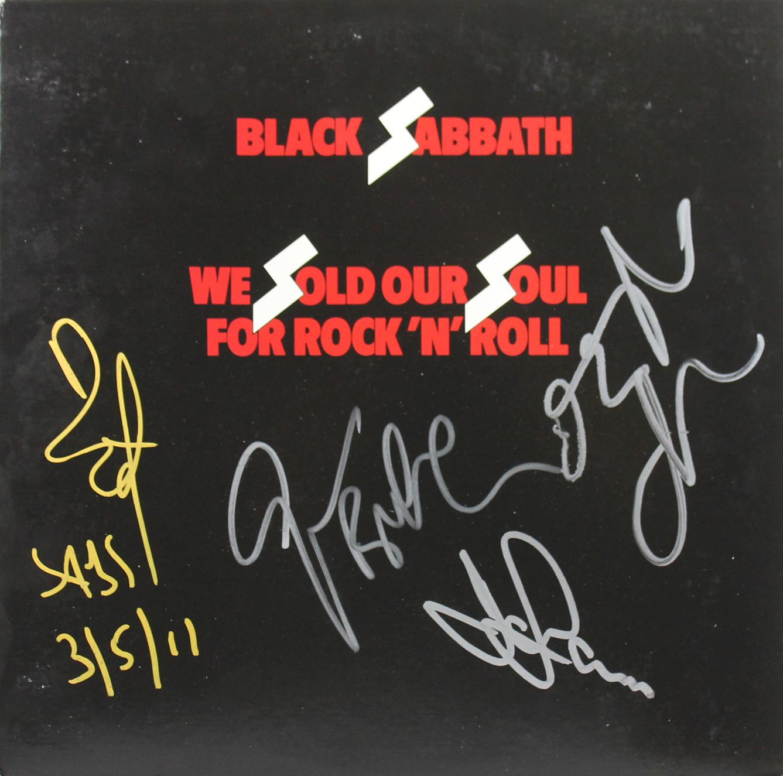 Black Sabbath (4) Osbourne, Butler, Iommi & Ward Signed Album Cover JSA #Z54054