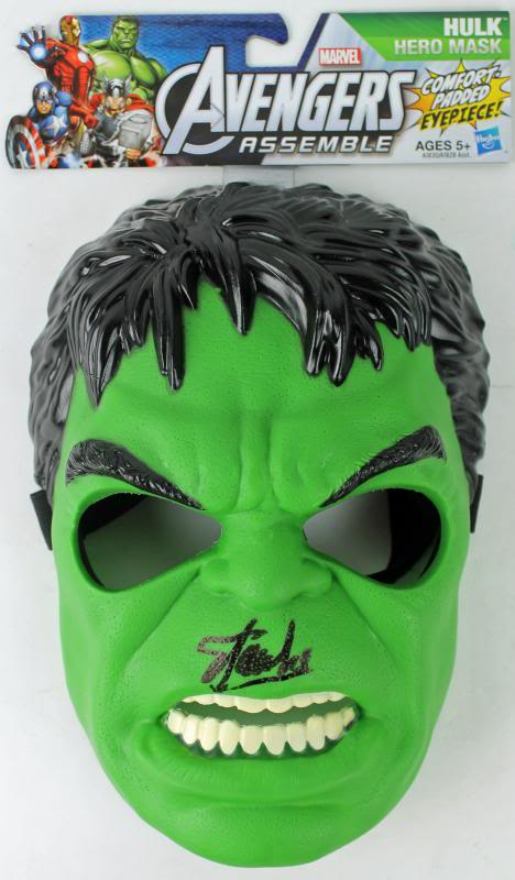 Stan Lee Authentic Signed The Hulk Avengers Mask W/ Stan Lee Hologram & PSA/DNA