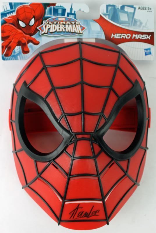 Stan Lee Signed Marvel Ultimate Spider-Man Mask W/ Stan Lee Hologram & PSA/DNA
