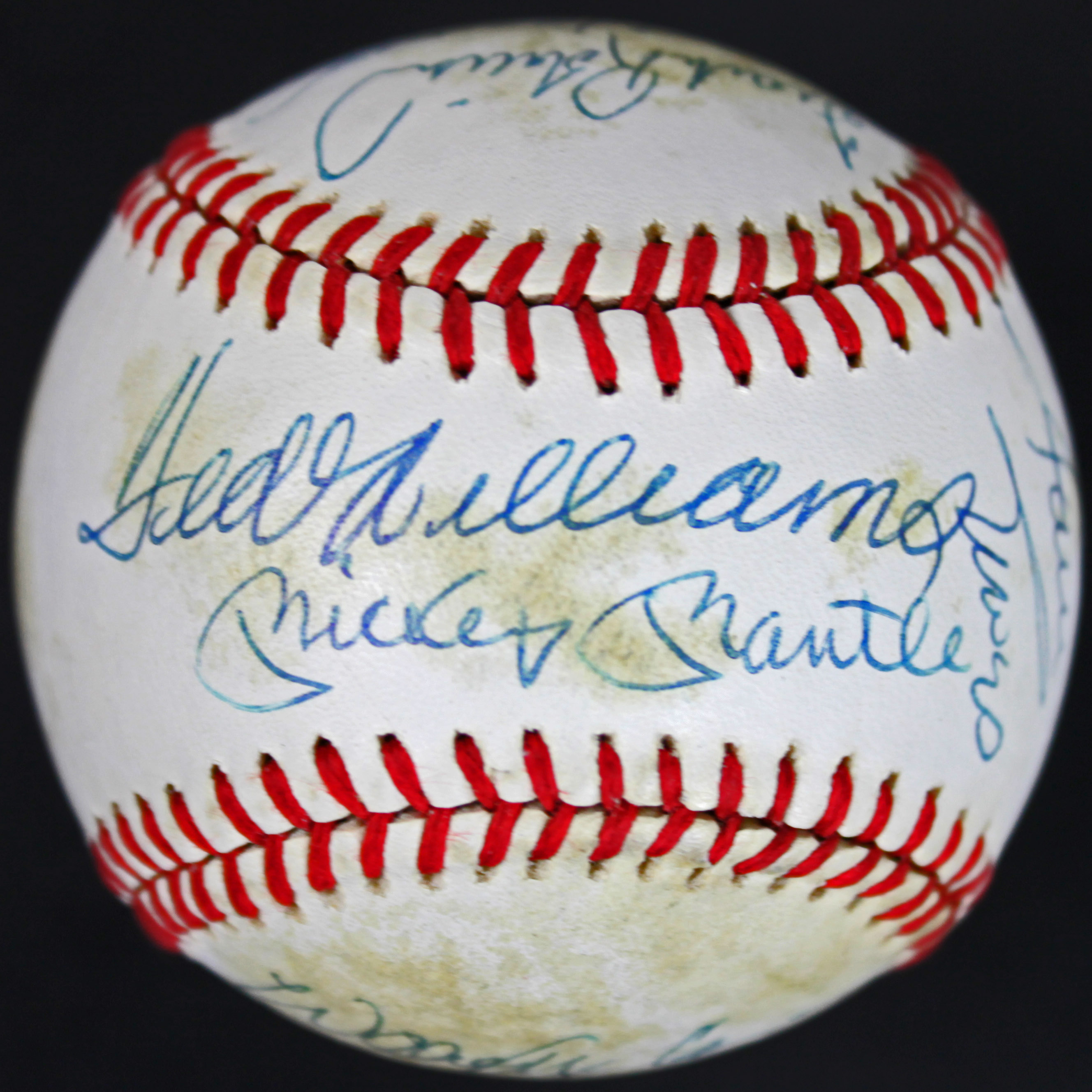 500 Home Run Club (13) Mantle, Williams, Aaron Signed Oml Baseball Jsa #y28463