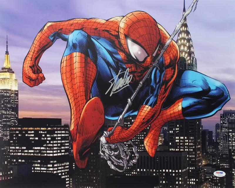 Stan Lee Signed Spider-Man 16X20 Photo Marvel Comics Autographed PSA/DNA 2