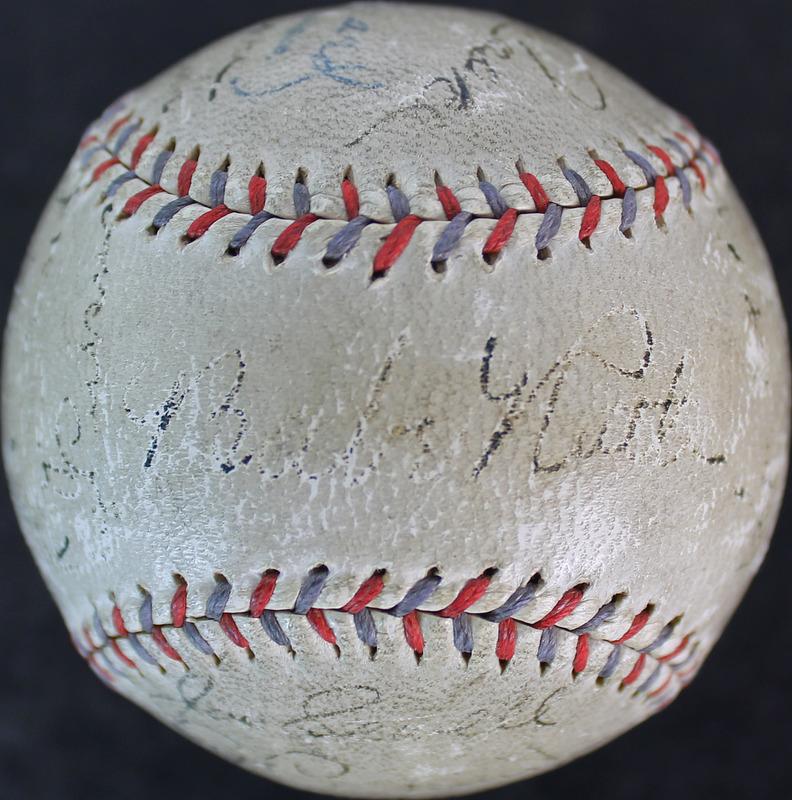 1931 Yankees (19) Babe Ruth, Lou Gehrig Signed Oal Barnard Baseball Psa #w06357
