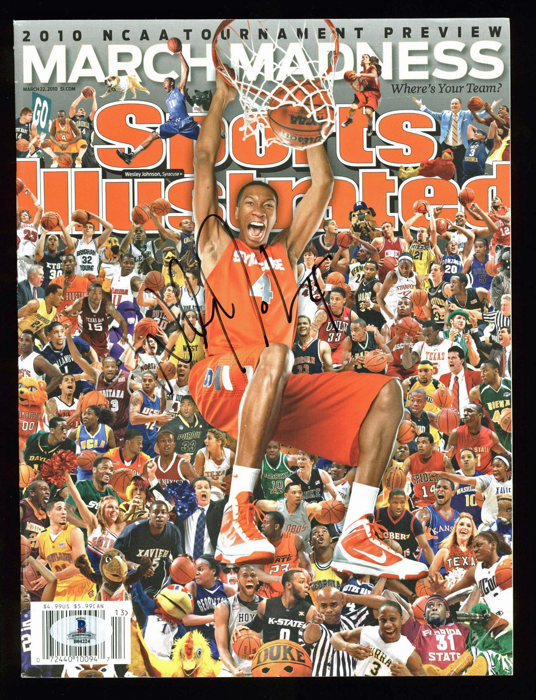 Syracuse Wesley Johnson Signed Sports Illustrated 2010 Magazine BAS #B04224