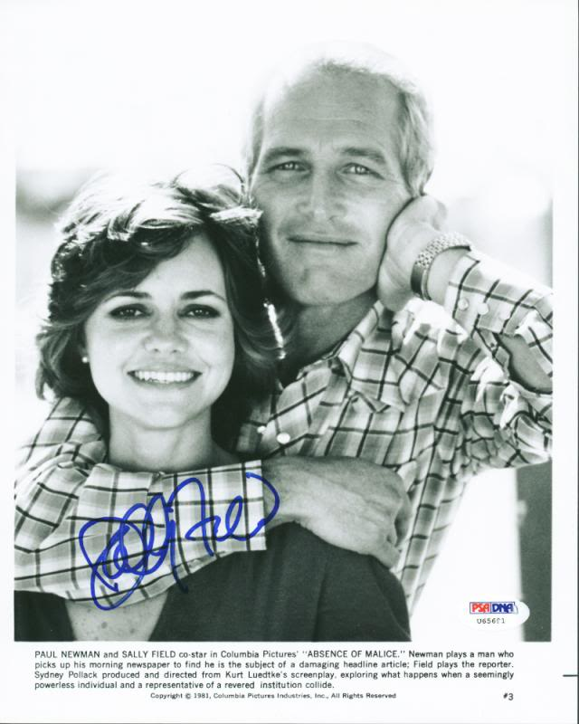 Sally Field Absence Of Malice Signed Authentic 8X10 Photo PSA/DNA #U65691
