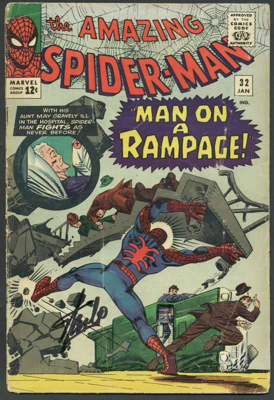 Stan Lee Authentic Signed The Amazing Spider-Man #32 Comic Book PSA/DNA #6A20945