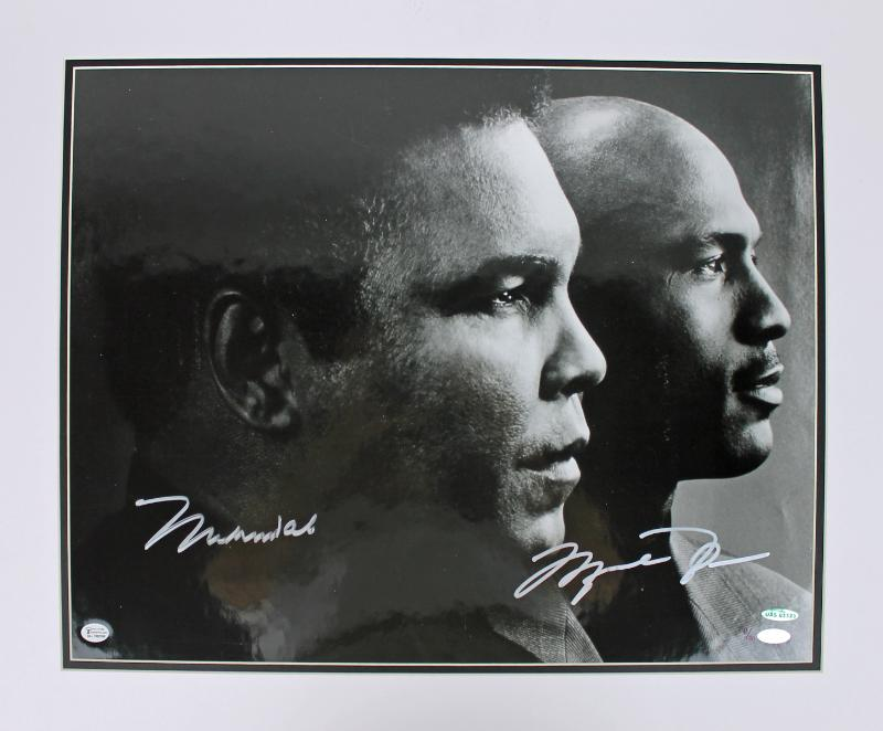 Muhammad Ali & Michael Jordan Signed 16X20 Photo Matted 43/50 Steiner & UDA
