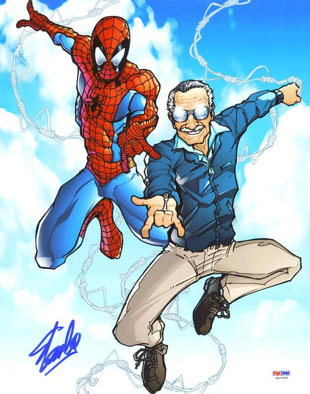 Stan Lee Authentic Signed Spider-Man 11X14 Photo Autographed PSA/DNA 11