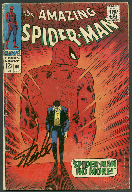 Stan Lee Authentic Signed The Amazing Spider-Man #50 Comic Book PSA/DNA #6A20918