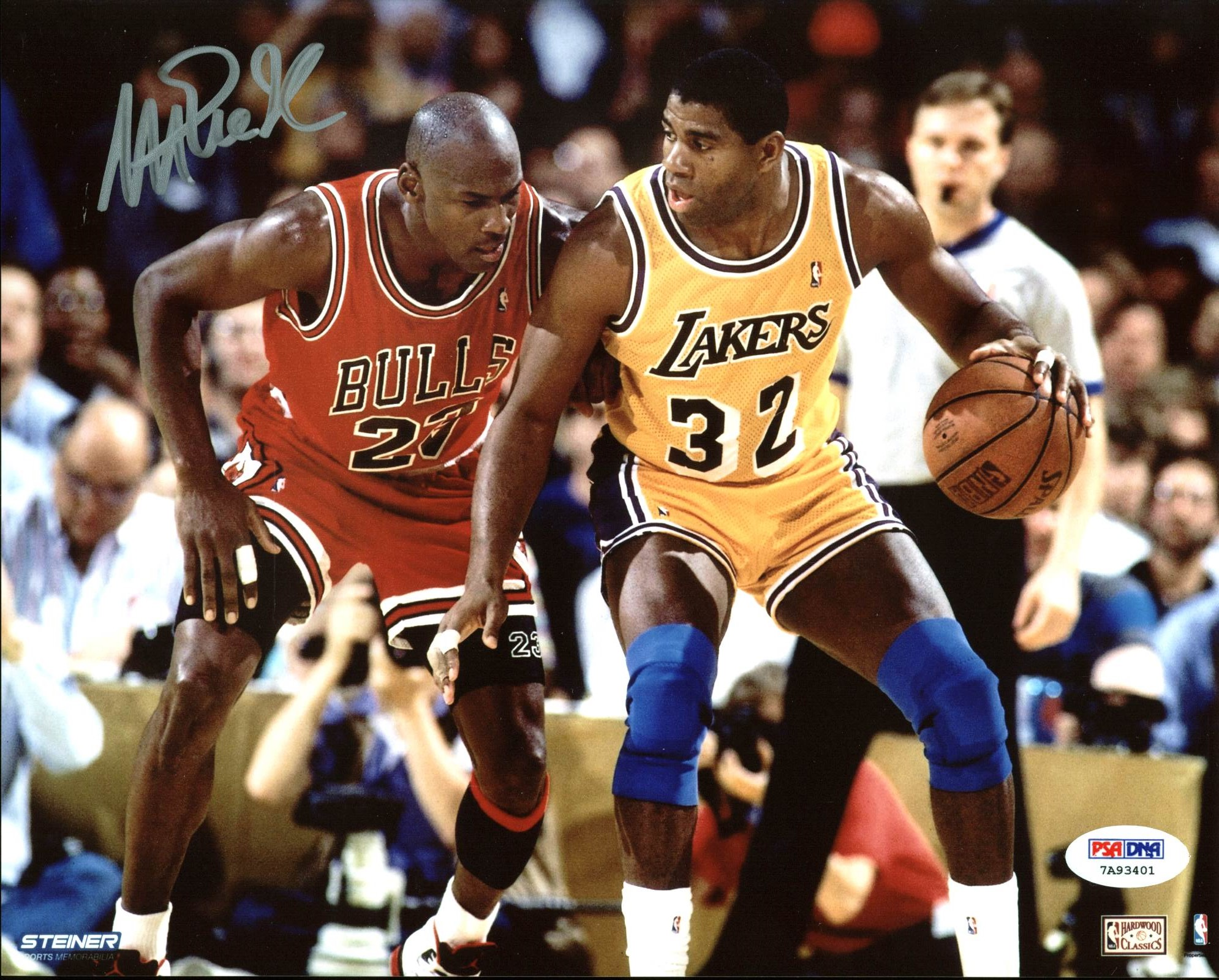 best service 4299f ff1d9 Details about Lakers Magic Johnson Authentic Signed 8X10 Photo w/ Michael  Jordan PSA/DNA ITP 1