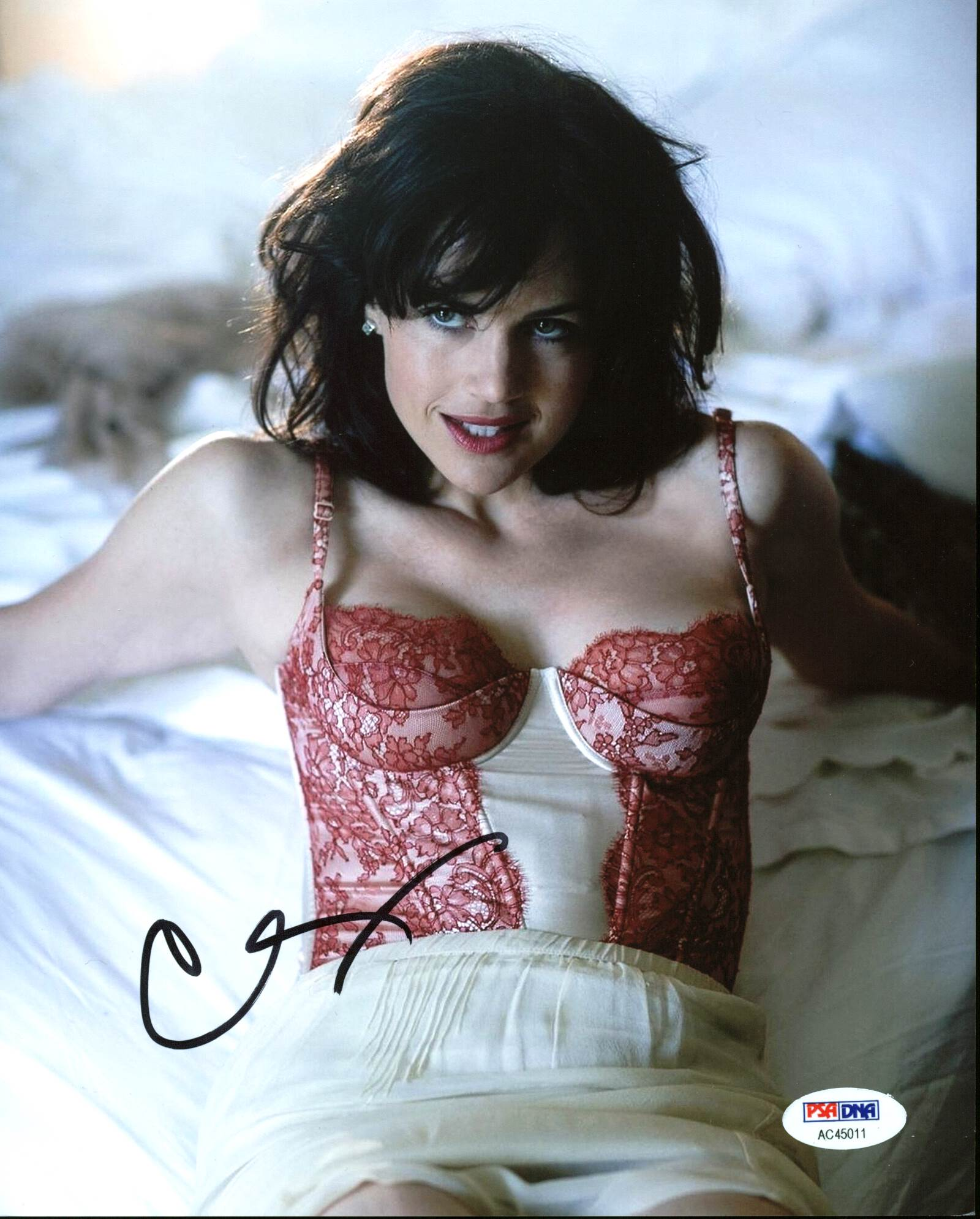 Carla Gugino Sexy Authentic Signed 8x10 Photo Autographed