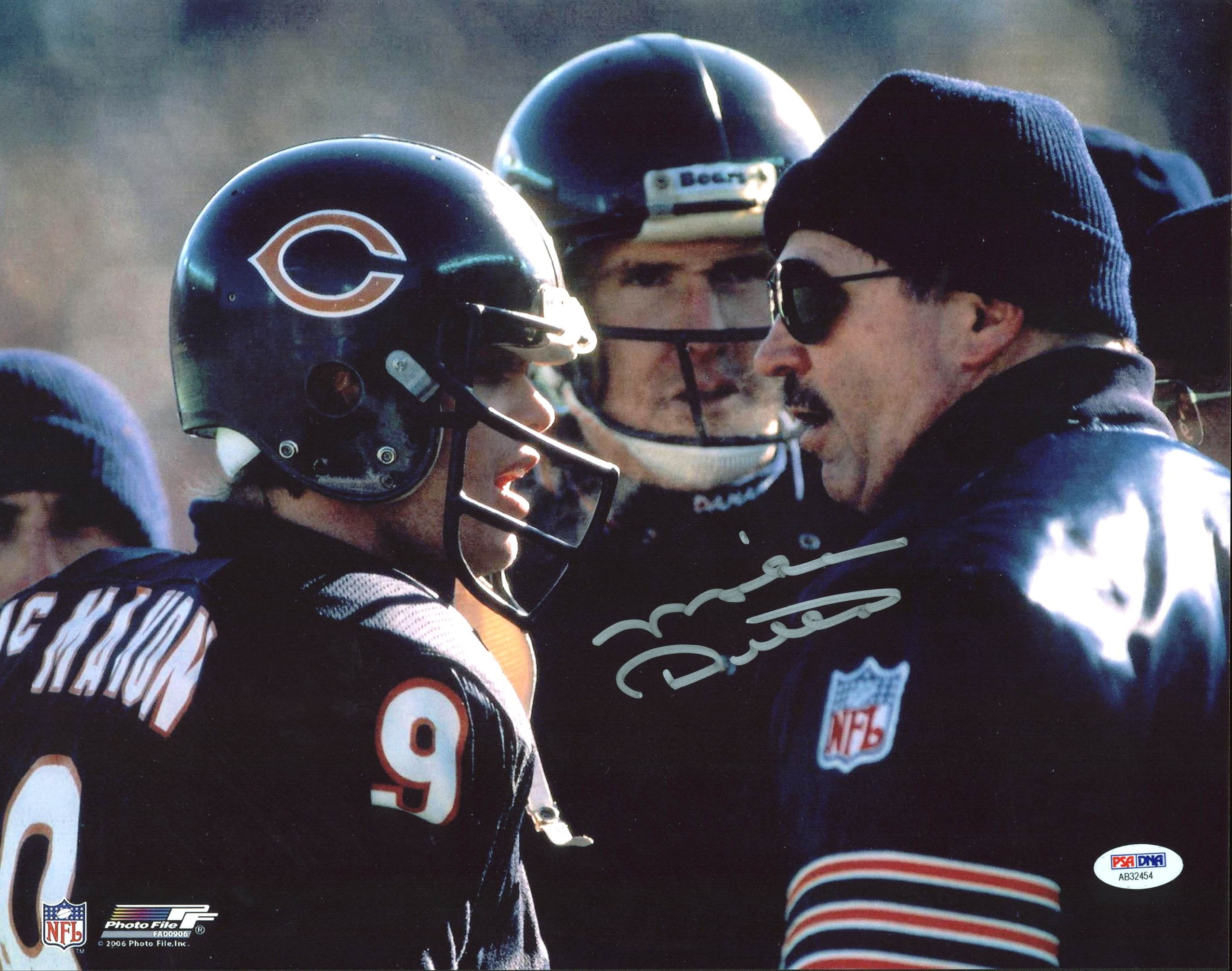 2cc11ad00d2 Bears Mike Ditka Authentic Signed 11X14 Photo with Jim McMahon PSA ...